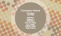 Beige Polka Dot Business Card Template